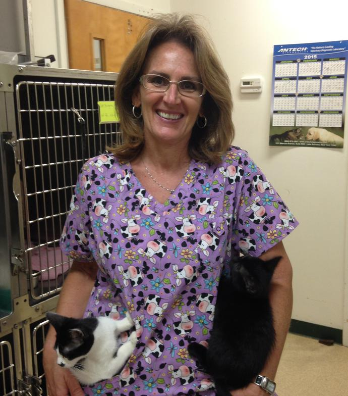 "Niki started with us in 2014.  She is a Certified Technician and is also known as our ""Cat Whisperer!"" She resides in Port St. Lucie with her boyfriend and her 6 cats. She loves to bottle raise kittens and wildlife. She has become an integral part of our practice."