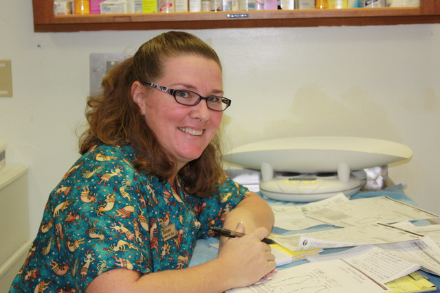 Meet Tammi. She is a certified veterinary technician who has worked in the field for over 20 years. Her experience includes emergency care and opthamology. After passing the board exam for Veterinary Technician Dental Specialty, she not only travels the country educating Doctors, technicians and clients about dentistry, she also comes to our hospital 2-3 times a month to perform dentistry and X-rays on your pets'. She is married and her children include 5 dogs, 2 cats, 1 saltwater aquarium, 1 freshwater aquarium. She enjoys traveling, scuba diving, kayaking, hiking and powerlifting